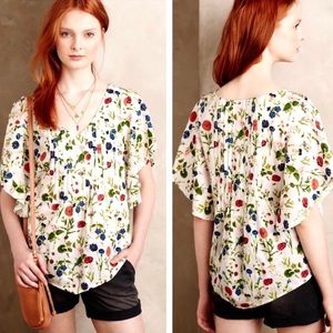 {ANTHRO} MAEVE • Floral Top blouse